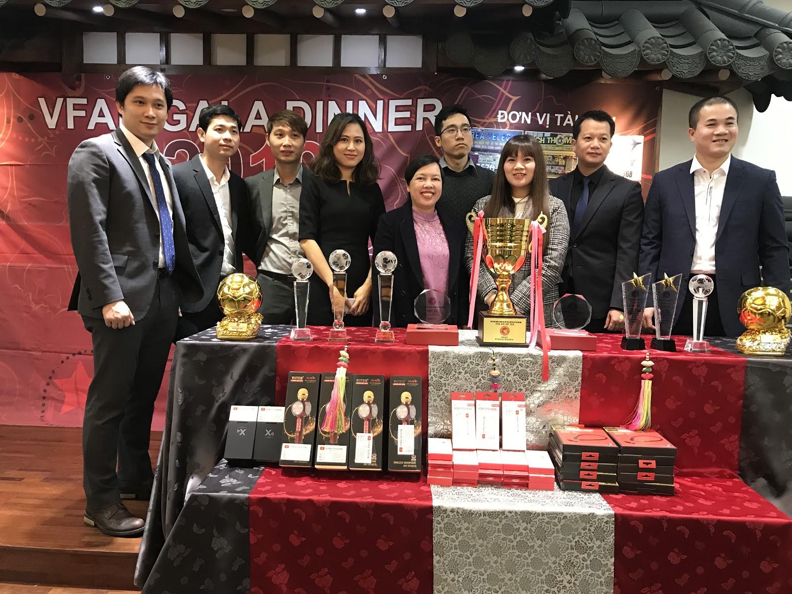 Hiệp hội bóng dá Việt Nam tại Hàn Quốc tổng kết 1 năm đầy thành công